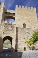 Historic Gate Morella Entrance Valencia Spain