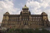 The historic building which is home to the Czech National Museum in the downtown core of Prague in the Czech Republic is the oldest museum institute and one of the most photographed.