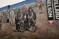 These historic murals are located in High River, Alberta, Canada.