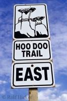 The Hoo Doo Trail is a 25 kilometre drive with views of typical Badlands terrain in Alberta, Canada.