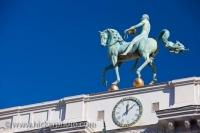 Horse And Rider Statue Ayuntamiento Granada City
