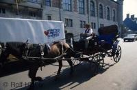 An interesting method of transport while visiting Quebec City in Canada is by Horse and Buggy.