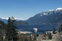 The BC Ferries terminal is situated in Horseshoe Bay at the beginning of the Sea to Sky Highway in Howe Sound, British Columbia, Canada.