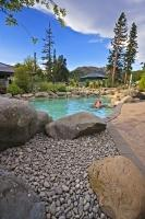 The hot pools at Hanmer Springs on the South Island of New Zealand are a popular tourist destination.