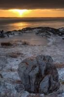 Hudson Bay Coastline Sunset Churchill Manitoba