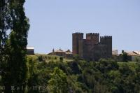 The ruins of the Binies castle in the Province of Huesca, Aragon in Spain on the hillside above the Rio Veral.