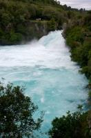 The spectacular Huka Falls are the largest falls on the Waikato River near Taupo on the North Island of New Zealand.