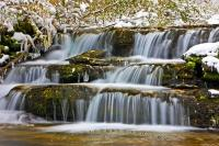 Beautiful Ice Fringed Winter Waterfall