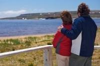 Couple Iceberg Watching Pinware River Provincial Park Labrador