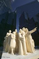 The sculptural group called the Illuminated Crowd is situated in downtown Montreal, Quebec, Canada.