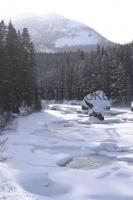 Rocky Mountain River snow scenes