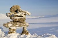 A Canadian Inuit Sign - the Inukshuk