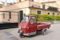 A typical vehicle seen throughout the town of Monterosso seems to be part of the Italian Culture.