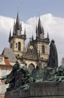 Jon Hus Monument Old Town Square Prague Czech Republic