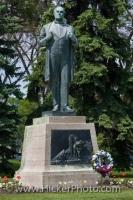 A statue of Jon Sigurdsson, a patriot of Iceland stands on the grounds of the Legislative Building in the City of Winnipeg in Manitoba, Canada.
