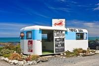 Enjoy some fine seafood at Nin's Bin along the Kaikoura Coast near Kaikoura on the South Island of New Zealand.