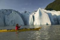 Alaska sea kayaking is a popular vacation activity in Alaska