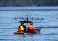 A touring kayak is a great way to get up close and personal with the killer whales of Northern Vancouver Island