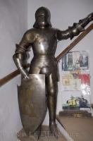 In the Middle Ages a knight was shielded by his plate of armor as seen here at Prague Castle in Prague, Europe.