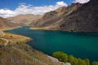 Lake Dunstan Landscape Central Otago New Zealand