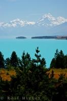 Beautiful Lake Pukaki Southern Alps Scenery New Zealand