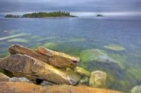 Agawa Rock is one of the many sights for visitors to the beautiful Lake Superior Provincial Park in Ontario, Canada.