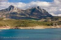 Landscape Embalse Zahara El Gastor Lake Cadiz Andalusia Spain
