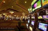 The gaming machines in a Las Vegas casino in Nevada, USA.
