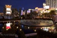 Bright lights and water features near Caesar's Palace in Las Vegas, Nevada make for some great pics.