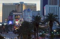 A small example of the themed hotels and casinos along the Las Vegas Strip in Nevada, USA.