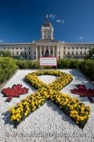 Legislative Building Flower Rock Garden Winnipeg Manitoba Canada