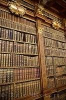 The monastic library at the Stift Melk in Austria, Europe is famous for its extensive selection of books.