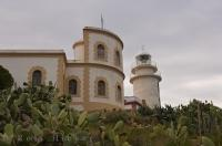 The lighthouse that stands at Cap de Sant Antoni in Valencia, Spain lightens up the bay every evening.