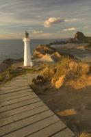 The Castle Point Lighthouse is located on the Wairarapa Coast on the North Island in New Zealand.