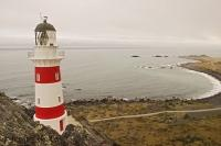 This lighthouse at Cape Palliser is easy to reach via road on the North Island of New Zealand.