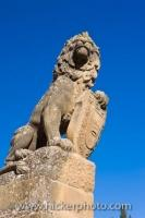 Easy to see in the Plaza de Vazquez de Molina in the town of Ubeda in Andalusia, Spain is the proud lion statue.