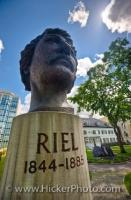 Louis Riel Statue City Of Winnipeg St Boniface Manitoba