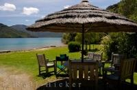 Punga Cove Resort is a luxury vacation spot in Endeavour Inlet on the South Island of New Zealand.