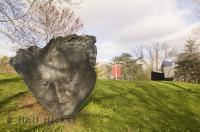 The Mask is an art piece installed at the Macdonald Stewart Art Gallery and Sculpture Park in Guelph, Ontario a must see during a family vacation.