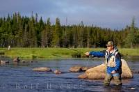 Man Fly Fishing Salmon River Newfoundland