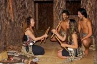 A demonstration of Maori games at the Wairakei Terraces near Taupo on the North Island of New Zealand.