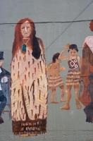 Maori People Wall Mural Opunake