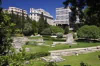 The garden known as Jardin des Vestiges in the downtown core of Marseille in the Provence, France is loaded with history and symbolic plants.