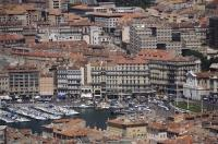City Marseille Vieux Port View Mediterranean Provence France