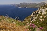 The Routes des Cretes is along the Mediterranean in Les Calanques, Cap Canaille in the Bouches du Rhone area in Provence, France. For any history lovers this trail is a must-see because it has a strong connection to World War I.