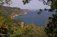 The Mediterranean Sea laps up on the shore along the Costa Brava coastline in Catalonia, Spain in Europe.