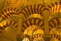 A tour through the interior of the Mezquita Cathedral is a must and reveals the many extensions and phases of a building which emphazes the overlaying civilizations of Cordoba, Andalusia, Spain.