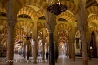 Interior Architecture Mezquita Cordoba City Andalusia Spain