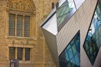 The Michael A. Lee-Chin Crystal building, which was designed by world-renowned architect Daniel Libeskind, is the newest expansion project to open in the Royal Ontario Museum in Toronto, Ontario. The new and old building can be seen here.