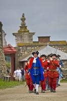 Military Procession Louisbourg Fortress Cape Breton